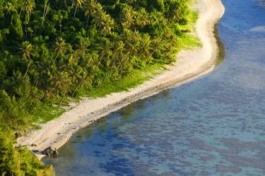 GU01008 Beach and Coral Reef, Tumon Bay, Guam (USA), Micronesia