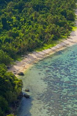 GU01021 Beach and Coral Reef, Tumon Bay, Guam (USA), Micronesia