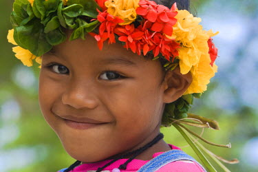 MI02012 Little Girl, Beyachal Village, Yap, Federated States of Micronesia