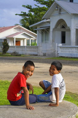 MI02050 Children, Kosrae, Federated States of Micronesia
