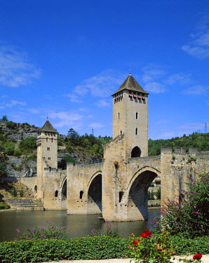 TPX4128 Pont Valentre & Lot River, Cahors, Lot Region, France