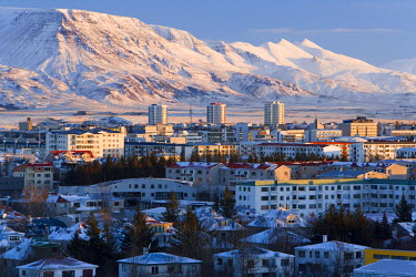 IC01033 View over Reykjavik in winter, Iceland