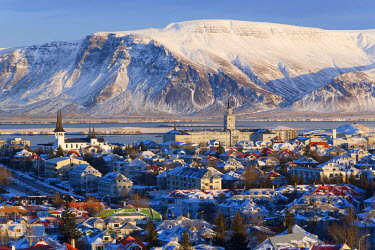 IC01034 View over Reykjavik in winter, Iceland