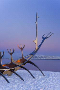 IC01042 Sun-Craft sculpture (Viking Ship), Reykjavik, Iceland