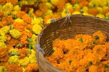 IN04139 Flower Market, Calcutta, West Bengal, India