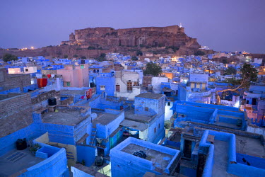 IN05329 Rooftops, Jodhpur (The Blue City), Rajasthan, India