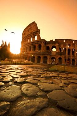 IT01307 Colosseum and Via Sacra, sunrise, Rome, Italy