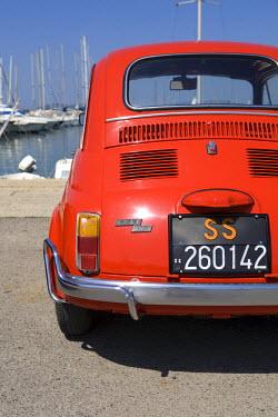 IT12082 Fiat 500, Alghero Harbour, Sardinia, Italy