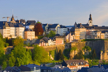 LX01017 Luxembourg, Luxembourg City, View of Grund, lower town