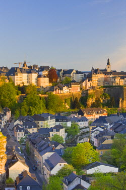 LX01018 Luxembourg, Luxembourg City, View of Grund, lower town