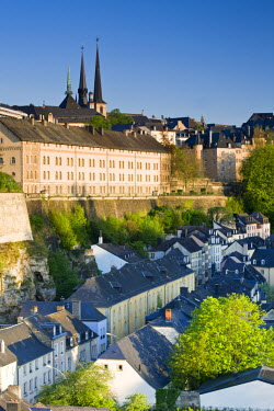 LX01019 Luxembourg, Luxembourg City, View of Grund, lower town