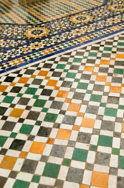 MC01085 Mosaic Floor, Musee de Marrakesh, Marrakesh, Morocco
