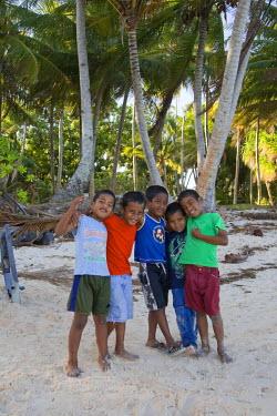 MH01008 Local Children, Laura Beach, Majuro Atoll, Marshall Islands