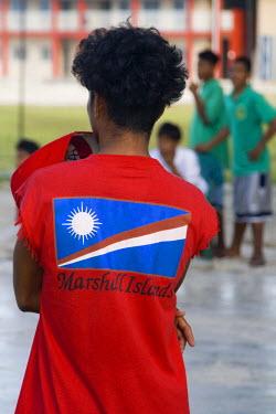 MH01015 Teenager, Jabor Village, Jaluit Atoll, Marshall Islands