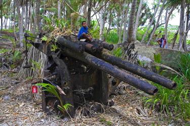 MH01029 WWII Tanks, Emiej (Imeji) Island, Jaluit Atoll, Marshall Islands