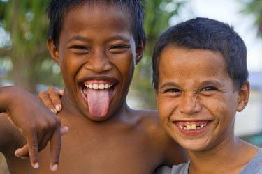MH01033 Local Children, Jabor Village, Jaluit Atoll, Marshall Islands