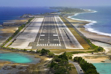 MH01039 Runway of Majuro Amata Kabua International Airport, Marshall Islands