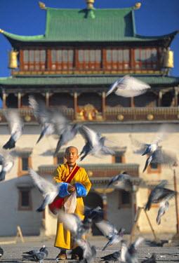 MM01036 Gandan Khiid monastery, Ulaan Baatar (Ulan Bator), Mongolia