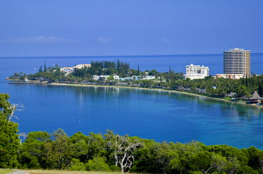 NC01043 New Caledonia, Grande Terre Island, Noumea, Hotels along Anse Vata bay