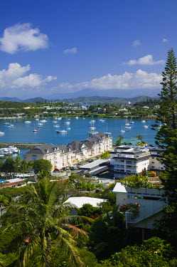 NC01045 New Caledonia, Grande Terre Island, Noumea, yacht marina at Baie de l'Orphelinat