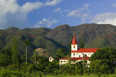 NC01058 New Caledonia, Grande Terre Island, St. Louis, The St. Louis Church