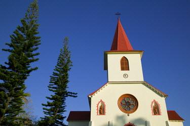 NC01059 New Caledonia, Grande Terre Island, St. Louis, The St. Louis Church