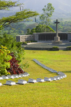 NC01069 New Caledonia, Central Grande Terre Island, Bourail, New Zealand Pacific War Cemetery