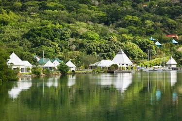 NC01072 New Caledonia, Northern Grande Terre Island, Hienghene, Town Port Area