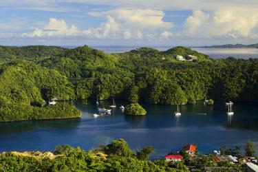 MI01001 The Rock Islands as seen from Koror, Palau, Micronesia