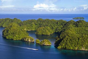 MI01002 The Rock Islands as seen from Koror, Palau, Micronesia