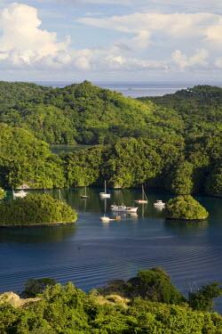 MI01003 The Rock Islands as seen from Koror, Palau, Micronesia