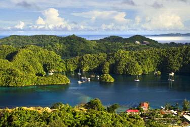 MI01004 The Rock Islands as seen from Koror, Palau, Micronesia