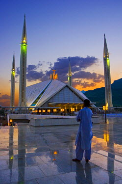 PK02047 Faisal Mosque, Islamabad, Pakistan