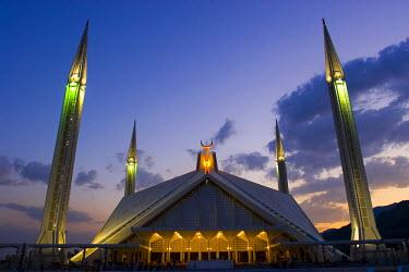 PK02048 Faisal Mosque, Islamabad, Pakistan