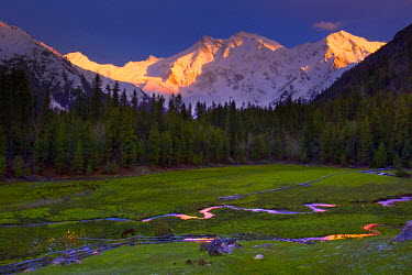 PK02049 Nanga Parbat (Nangaparbat Peak), from Fairy Meadows, Diamir District, Pakistan