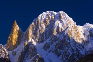 PK02056 Ultar and Lady's Finger peaks, Karimabad, Hunza Valley, Karakoram, Pakistan