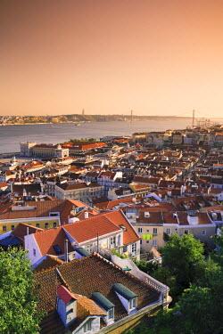 PT01215 Alfama District and Rio Tejo, Lisbon, Portugal