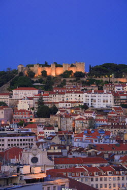 PT01219 Baixa distric and Castelo de Sao Jorge, Lisbon, Portugal