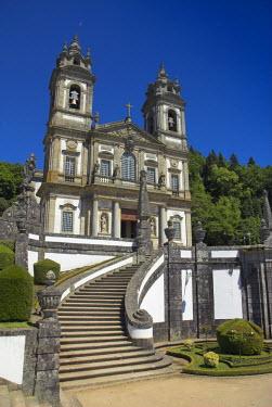 PT05044 Bom Jesus do Monte Baroque Church & staircase, Braga, Minho Province, Portugal