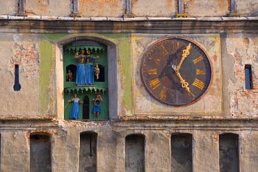 RM01128 Clock tower (Turnul cu Ceas), Sighisoara, Transylvania, Romania
