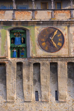 RM01129 Clock tower (Turnul cu Ceas), Sighisoara, Transylvania, Romania