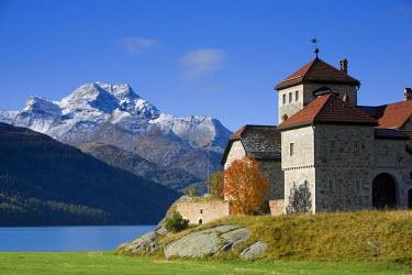 CH02353 Silvaplanersee & Castle, Silvaplaner, Graubunden, Switzerland