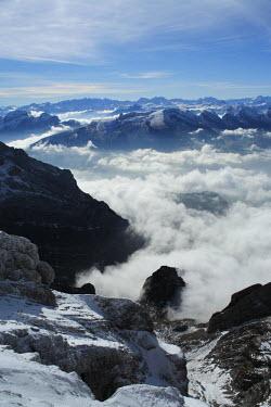 CH02397 View from the mount Santis (2502 m), Appenzell Innerrhoden, Switzerland