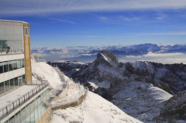 CH02398 View from the mount Santis (2502 m), Appenzell Innerrhoden, Switzerland