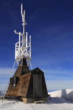 CH02399 Meteorological station, Mount Santis (2502 m), Appenzell Innerrhoden, Switzerland