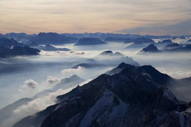CH02400 View from the mount Santis (2502 m), Appenzell Innerrhoden, Switzerland