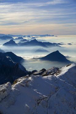 CH02401 View from the mount Santis (2502 m), Appenzell Innerrhoden, Switzerland