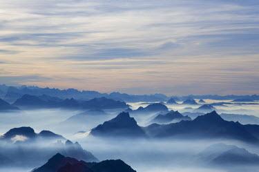 CH02402 View from the mount Santis (2502 m), Appenzell Innerrhoden, Switzerland