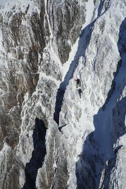 CH02403 Climbers on Mount Santis (2502 m), Appenzell Innerrhoden, Switzerland