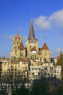 CH03206 Cathedral Tower, Lausanne, Switzerland